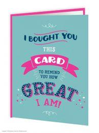 How Great Am I (FIZZ029) Birthday Card