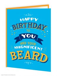 Magnificent Beard (FIZZ031) Birthday Card
