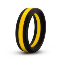 Performance Silicone Go Pro Cock Ring Black Yellow