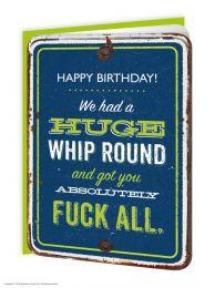 Whip Round (GT047) Birthday Card
