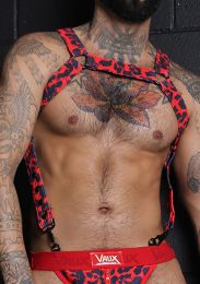 Cellblock 13 VAUX VX2 Harness Leopard Red