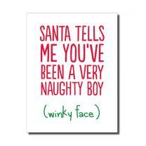Naughty Boy (HON165) Christmas Card