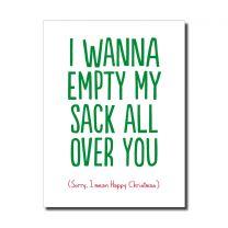 Empty Sack (HON167) Christmas Card