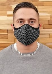 ruff GEAR Easy Breathe Mesh Face Mask Black Silver