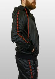ruff GEAR Scally Tape Trackie Top Black Red