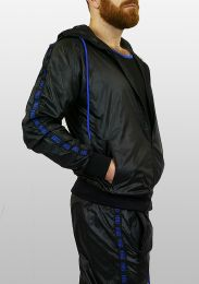 ruff GEAR Scally Tape Trackie Top Black Blue