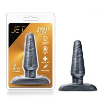 Jet Small Carbon Metallic Black Butt Plug 4 Inch