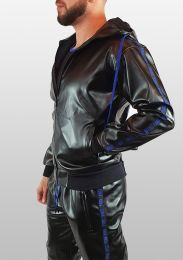 ruff GEAR Fetish Tape Trackie Top Black Blue
