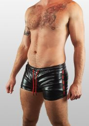 ruff GEAR Fetish Tape Short Black Red