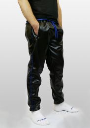 ruff GEAR Fetish Tape Trackie Bottoms Black Blue
