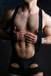 Locker Gear Backless Singlet Black Blue