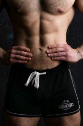 Locker Gear Bottomless Shorts Black White
