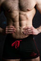 Locker Gear Bottomless Shorts Black Red