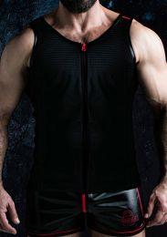 Locker Gear Zipper Vest Red