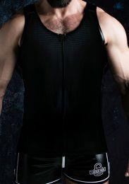 Locker Gear Zipper Vest Black