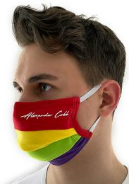 Alexander Cobb Double Layer Face Mask Rainbow