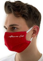 Alexander Cobb Double Layer Face Mask Mesh Red