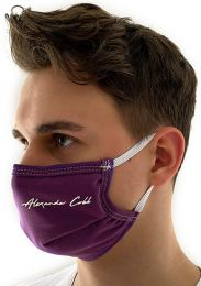 Alexander Cobb Double Layer Face Mask Violet