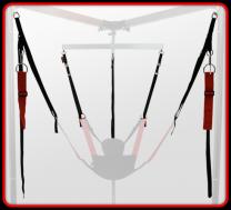 RED Multi Purpose Adjustable Fabric Strap Set