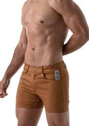 TOF Paris Mid Thigh Shorts Camel