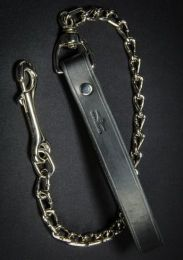 Mr S Leather Chain Leash