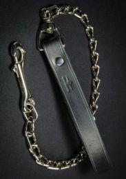 Mr S Leather Chain Leash