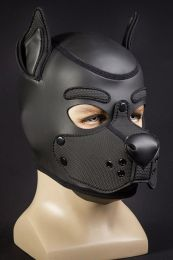 Mr S Leather Neoprene K9 Puppy Hood Black