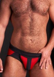 Mr S Leather Neo All Access Brief Red