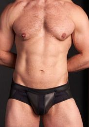 Mr S Leather Neo Air Mesh All Access Brief Black