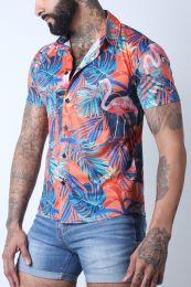 Timoteo Riviera Mesh Shirt Flamingo Orange