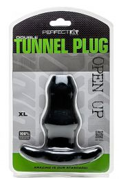 Perfect Fit Double Tunnel Plug XL Black