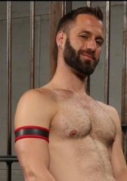 Mr S Leather Neoprene 2.0 Armband Red