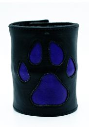 ruff GEAR HOUND Leather Wrist Strap Wallet Purple Black