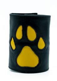 ruff GEAR HOUND Leather Wrist Strap Wallet Yellow Black