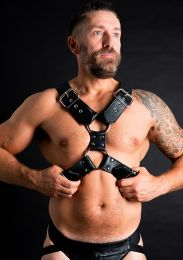 ruff GEAR Leather Body Harness