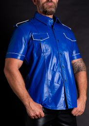 ruff GEAR Leather Uniform Shirt Blue White