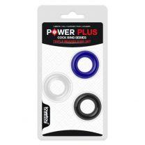 Power Plus Donut Cock Rings 3 Pack Asstd