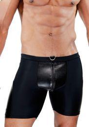 TOF Paris Deri Full Zip Shorts Shorts Black