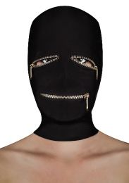 Ouch Extreme Zipper Mask Black