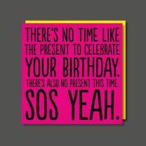 SOS Yeah (BAB59) Birthday Card