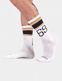 Barcode Berlin Sports Socks 69 White Orange Black