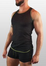 ruff Gear Mesh Tape Tank Top Black Army