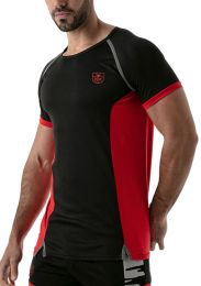 TOF Paris Total Protection T Shirt Black Red