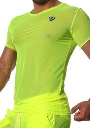 TOF Paris Happy T Shirt Neon Yellow