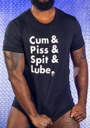 Mr S Leather Cum Spit Piss Lube Fitted T Shirt