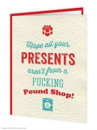 Pound Shop Presents Christmas Card