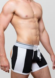 Varsity Scrimmage Lace Up Bottomless Shorts Black