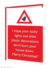 Shite Decorations Christmas Card