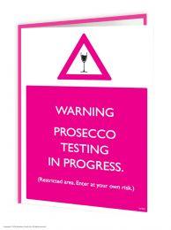 Prosecco Testing (W292) Birthday Card