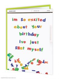Excited About Your Birthday (WCO66) Birthday Card
